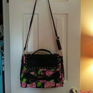 Betseyville Floral Handbag With Crossbody Strap